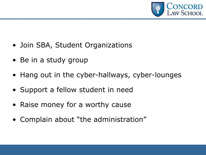 Join SBA, Student Organizations