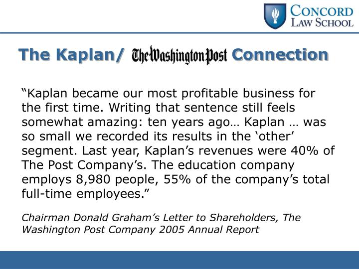 The Kaplan/                    Connection