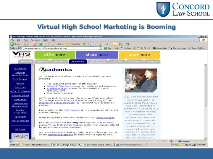 Virtual High School Marketing is Booming