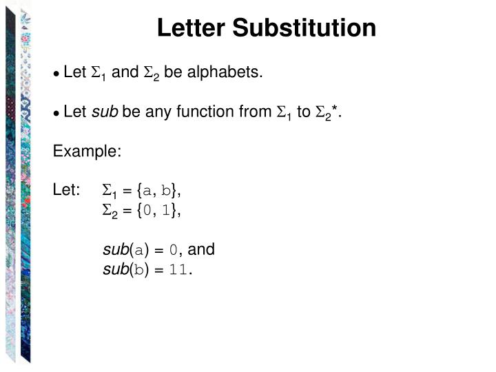 Letter Substitution
