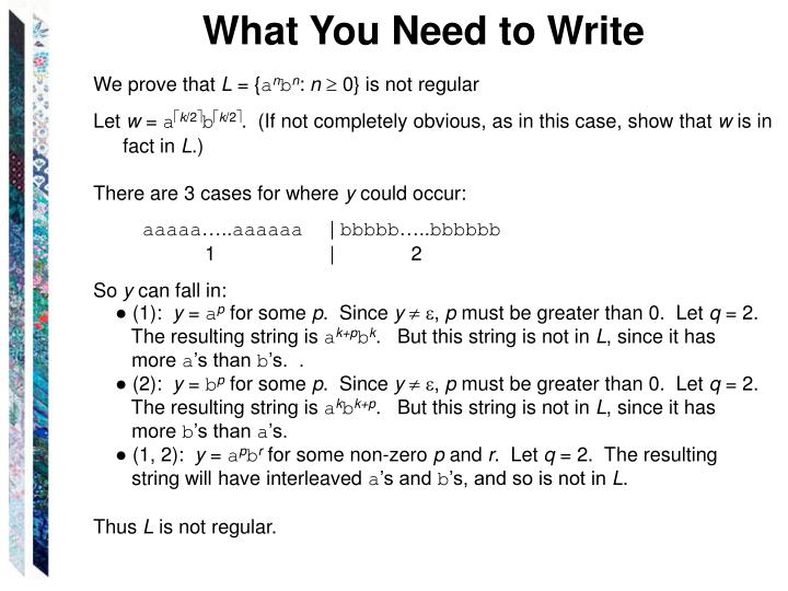 What You Need to Write