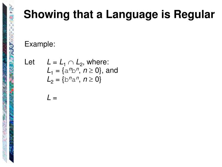 Showing that a Language is Regular