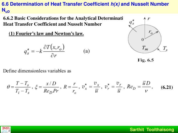 6.6 Determination of Heat Transfer Coefficient