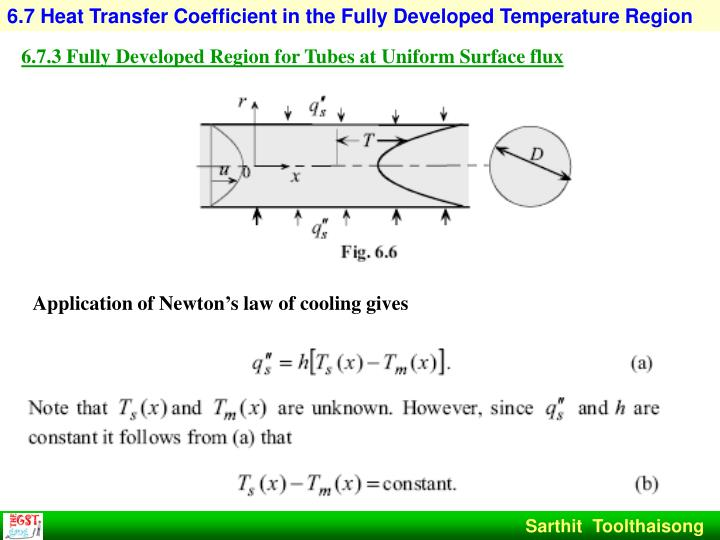 6.7 Heat Transfer Coefficient in the Fully Developed Temperature Region