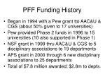 pff funding history