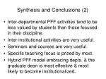 synthesis and conclusions 2