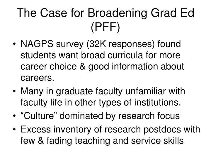 The Case for Broadening Grad Ed (PFF)