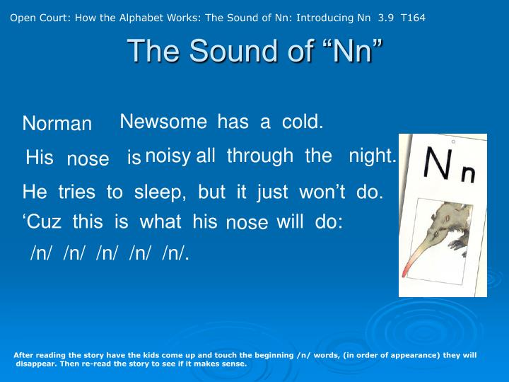 Open Court: How the Alphabet Works: The Sound of Nn: Introducing Nn  3.9  T164