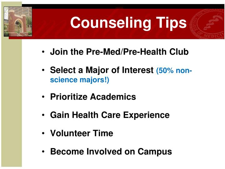 Counseling Tips
