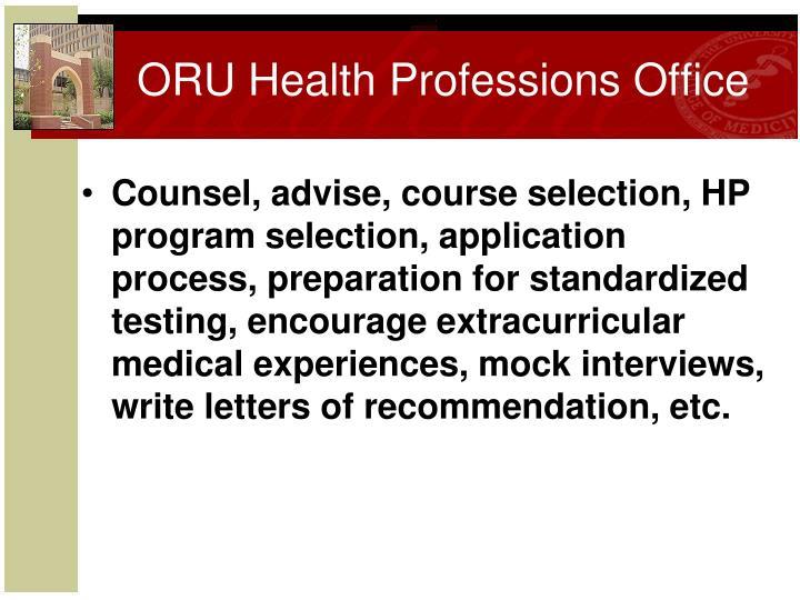 ORU Health Professions Office