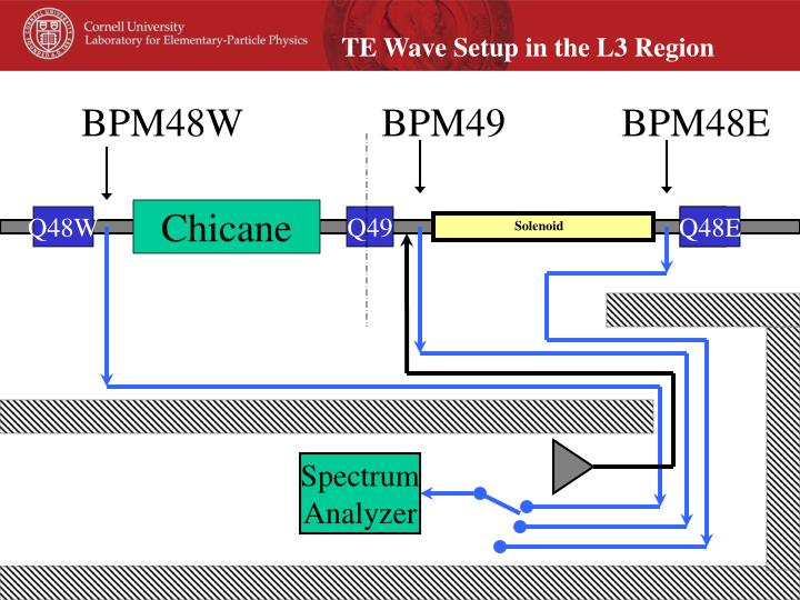 TE Wave Setup in the L3 Region
