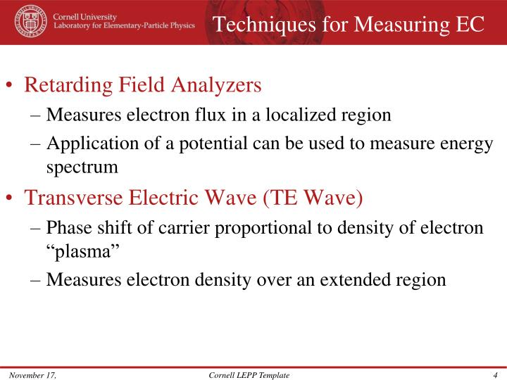 Techniques for Measuring EC