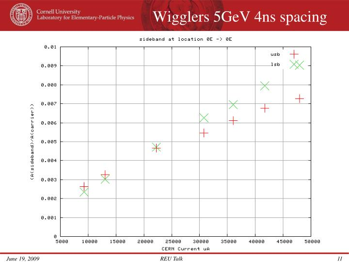 Wigglers 5GeV 4ns spacing