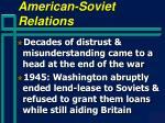 american soviet relations