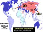 communist expansion a chronology of events