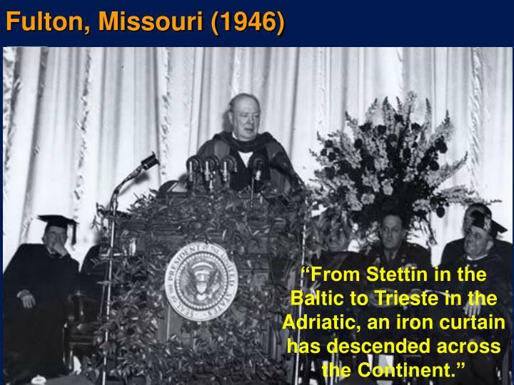 Fulton, Missouri (1946)