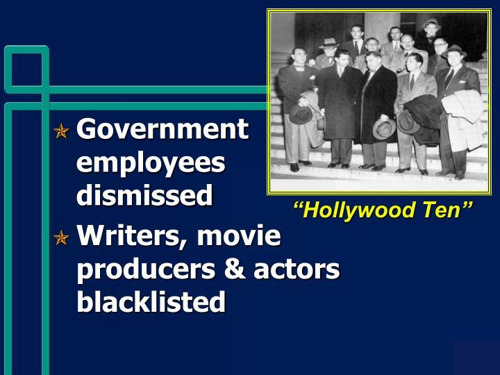 """Hollywood Ten"""