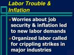 labor trouble inflation
