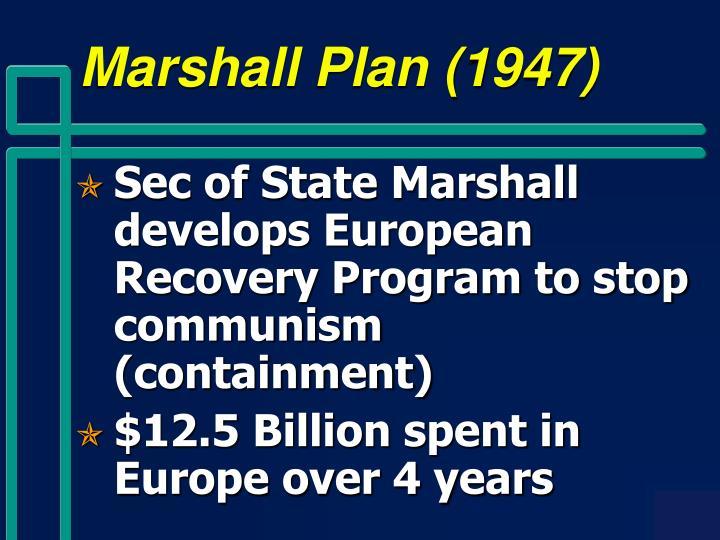 Marshall Plan (1947)