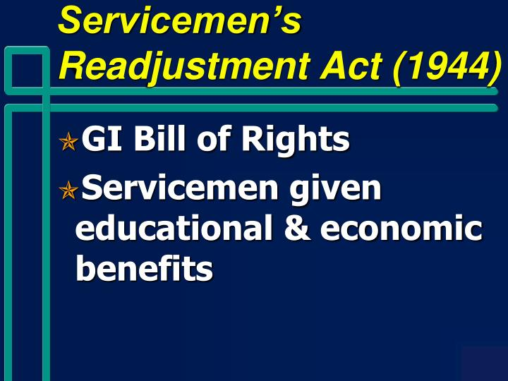 Servicemen's Readjustment Act (1944)