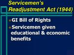 servicemen s readjustment act 1944