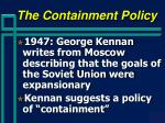 the containment policy