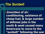 the sunbelt