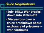 truce negotiations