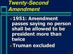twenty second amendment