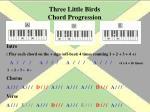 three little birds chord progression