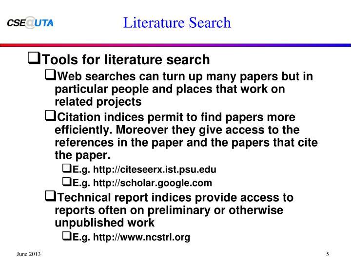 Literature Search
