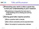 talks and presentations1