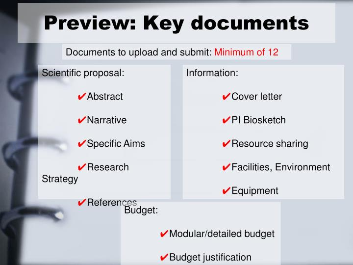 Preview: Key documents