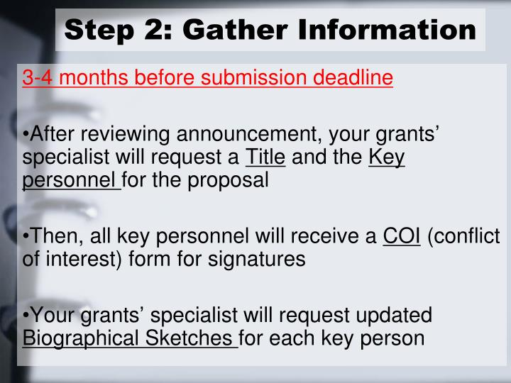 Step 2: Gather Information