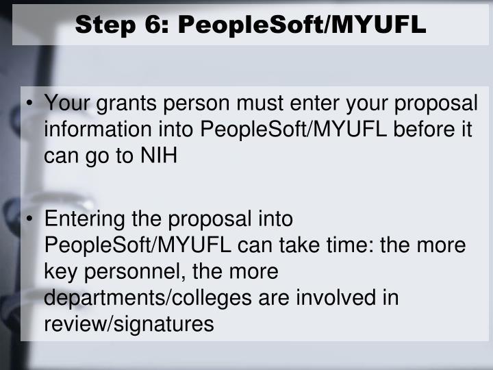 Step 6: PeopleSoft/MYUFL