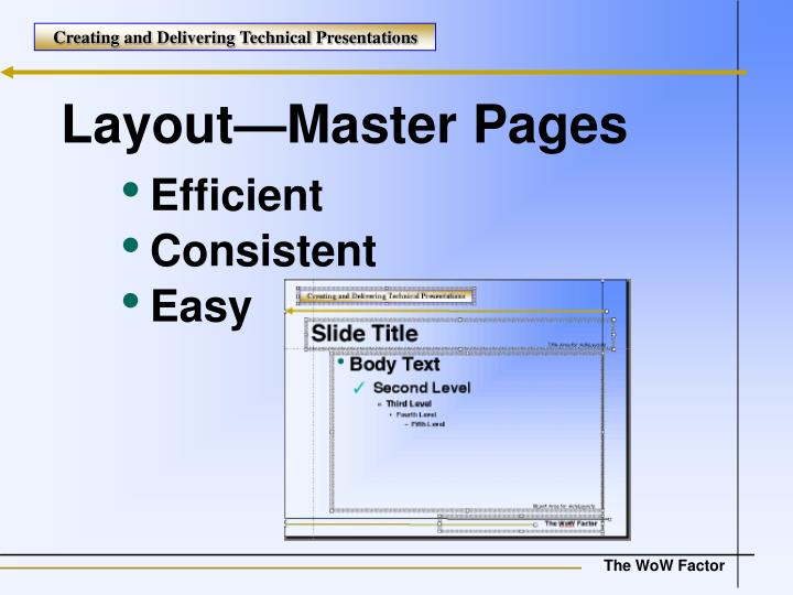 Layout—Master Pages