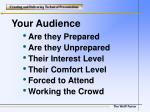 your audience