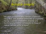 biological integrity