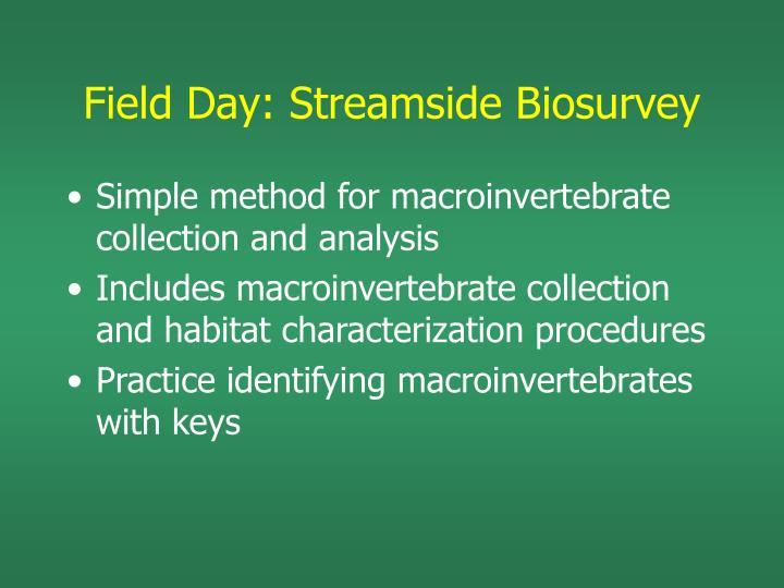 Field Day: Streamside Biosurvey