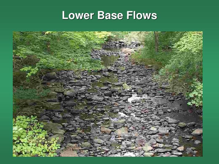 Lower Base Flows