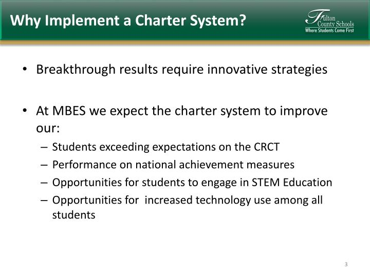 Why implement a charter system
