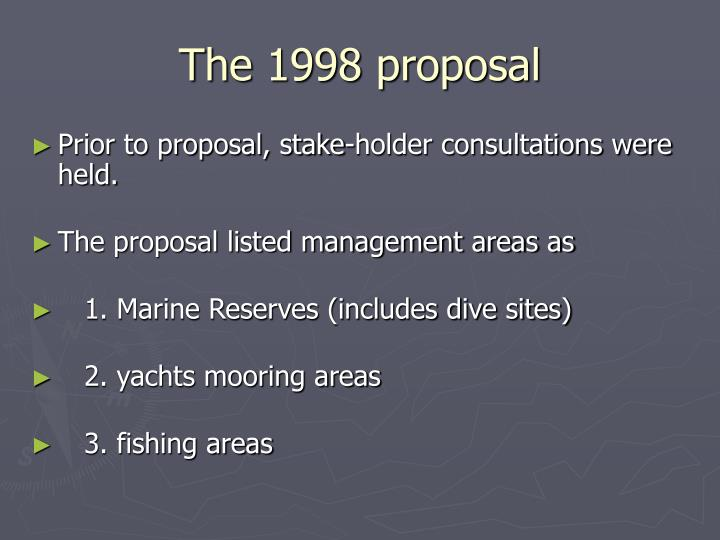 The 1998 proposal