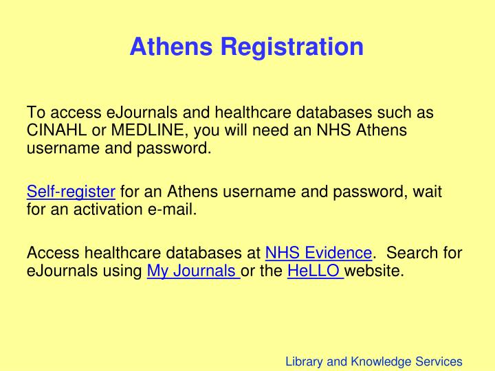 Athens Registration