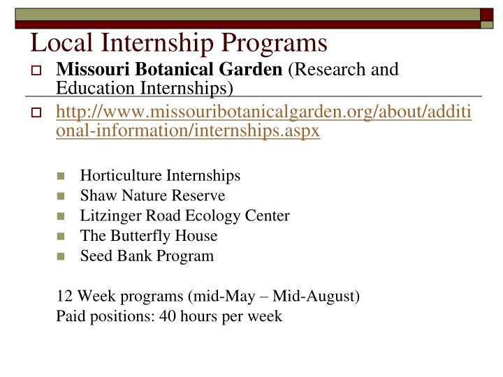 Local Internship Programs