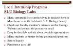 local internship programs slu biology labs