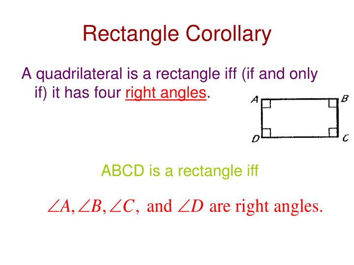 Rectangle Corollary