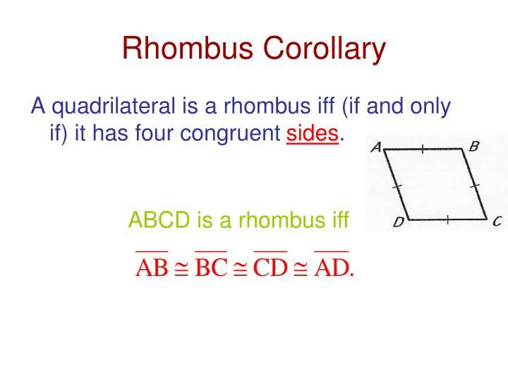 Rhombus Corollary