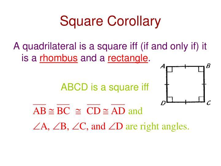Square Corollary