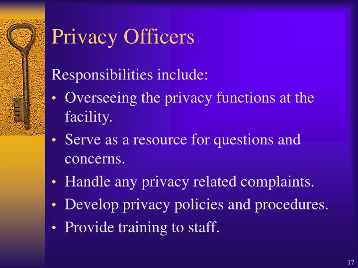 Privacy Officers