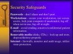 security safeguards